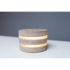Super Nova round wooden lamp