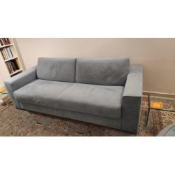 Slash sofa -bed in blue velvet color by Ligne Roset