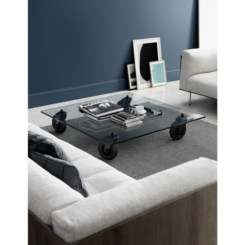 Glass coffee table by Gae Aulenti for Fontana Arte
