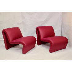 Set of recovered armchairs Etienne Fermigier 60/70