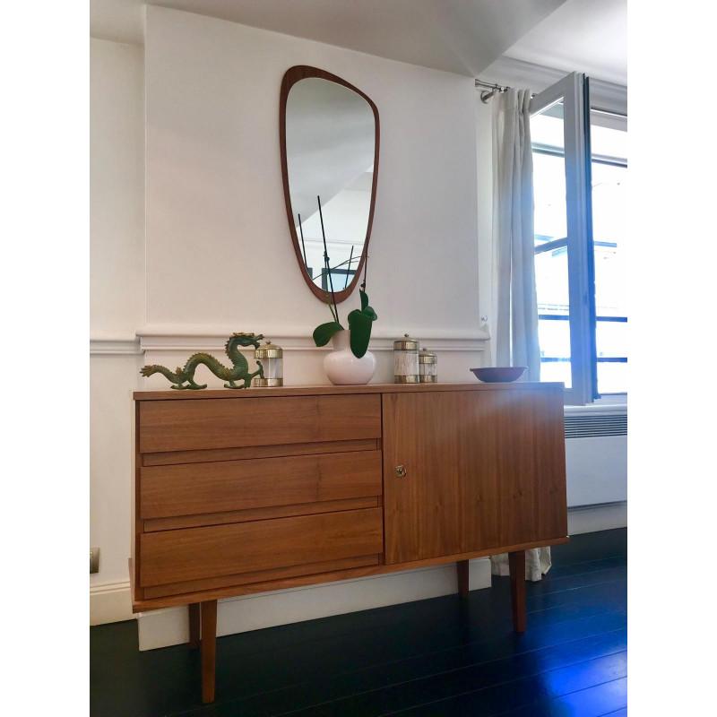 Miroir Design Bois