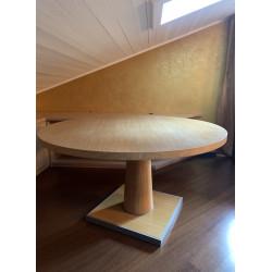 Table ronde en chêne brossé, B&B Italia Collection Apta pour Maxalto.