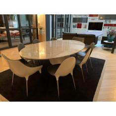Table Elica salle à manger en marbre blanc