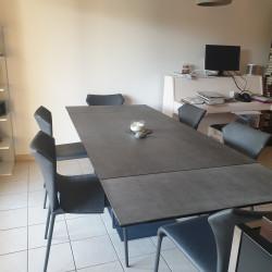 Table salle à manger plateau céramique