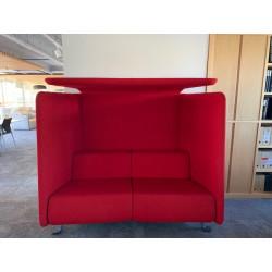 Canapé niche rouge SILVERA