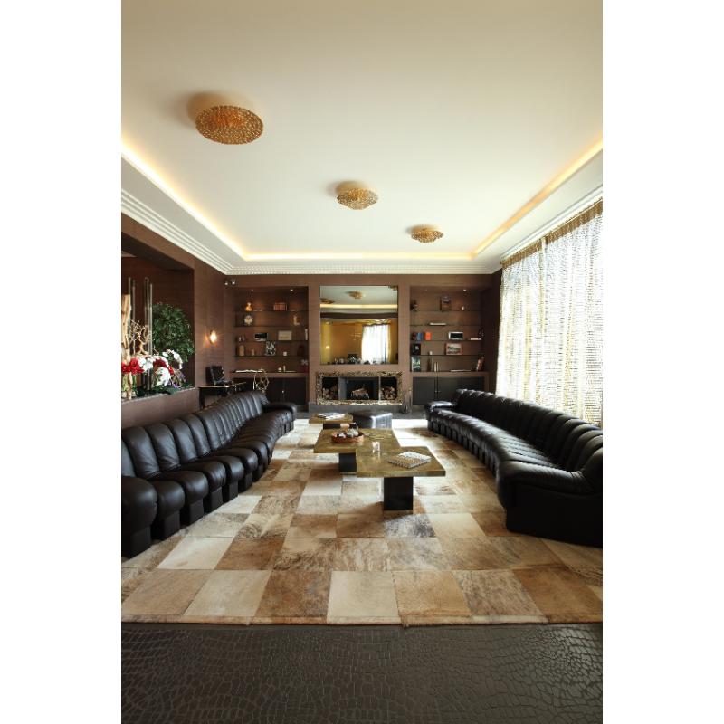 Tapis Pinto 40 2,48m x 2,48m en couleur sable Limited Edition