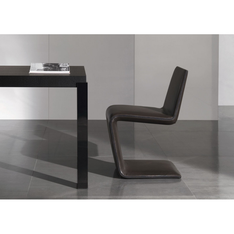 Phillips Black Minnoti Chair by Rodolfo Dordoni